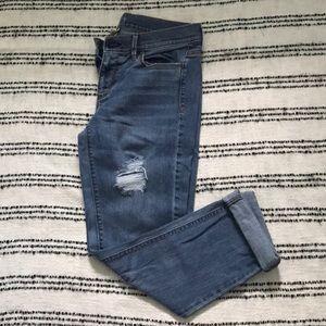Loft Modern Crop Jeans medium light wash